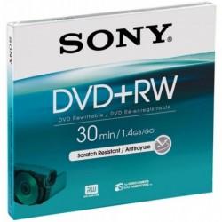 SONY DVD+RW pour caméscope 1,4 Go DVD CAM 8 cm Enregistrable et réinscriptible 30 mn
