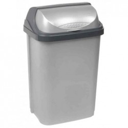 "KEEEPER Poubelle ""rasmus"" 25 litres Couvercle Basculant Argent"