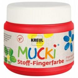 """KREUL gouache aux doigts textile """"MUCKI"""", rouge, 150 ml"""