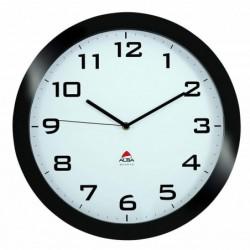 ALBA Horloge murale Horissimo silencieuse à pile 1AA non fournie - D38 cm noir