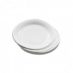 HUHTAMAKI Sachet de 50 assiettes en carton blanc Diam. 23cm