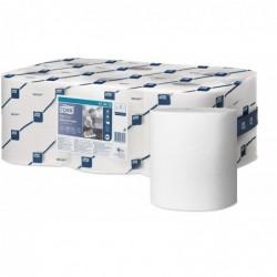 LOTUS Lot de 6 Bobines Maxi Reflex papier d'essuyage dévidage central 114m 1 pli blanc