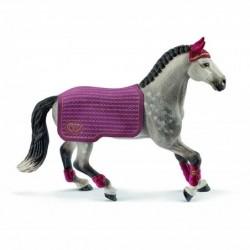 SCHLEICH Horse Club  42456 Jument Trakehnen Concours équestre Avec Couverture