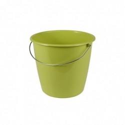 OK Seau avec étrier en acier Rond 5 litres D24 x H 20 cm Vert olive