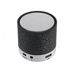 REEKIN Coley Haut-parleur Bluetooth avec lumiére LED multicolore + kit main-libre Noir
