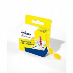 AVERY Boîte distributrice de 150 pastilles adhésives Ø15 mm Coloris Jaune