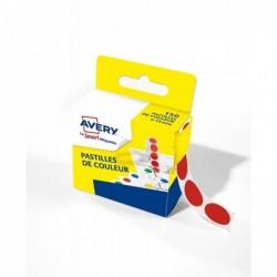 AVERY Boîte distributrice de 150 pastilles adhésives Ø15 mm Rouge