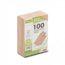 GPV Paquet de 100 enveloppes élection recyclées bulles 90x140 75 g/m²