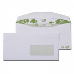 GPV Boite de 1000 enveloppes patte trapèze blanches C6/C5 115x229 80 g
