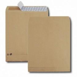 GPV Paquet de 50 sacs à soufflets kraft brun 26 280x375 120 g/m² bande de protection