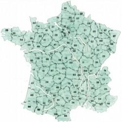 MINERVA Carte billographe n° 12 France départements