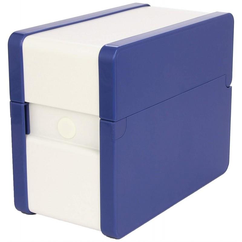 NOBO Boîte à Fiches Provence A6 Portrait Classement en Hauteur Bleu cobalt