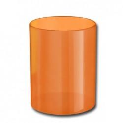 ELAMI Pot à Crayon Plastique Orange