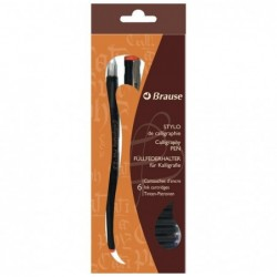 BRAUSE CALLIGRAPHIE Set Stylo de calligraphie 2,3mm + 6 Cartouches encre