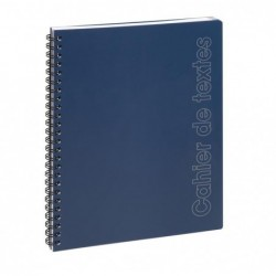 EXACOMPTA Cahier de textes 17x22 Sporty Spirale bleu