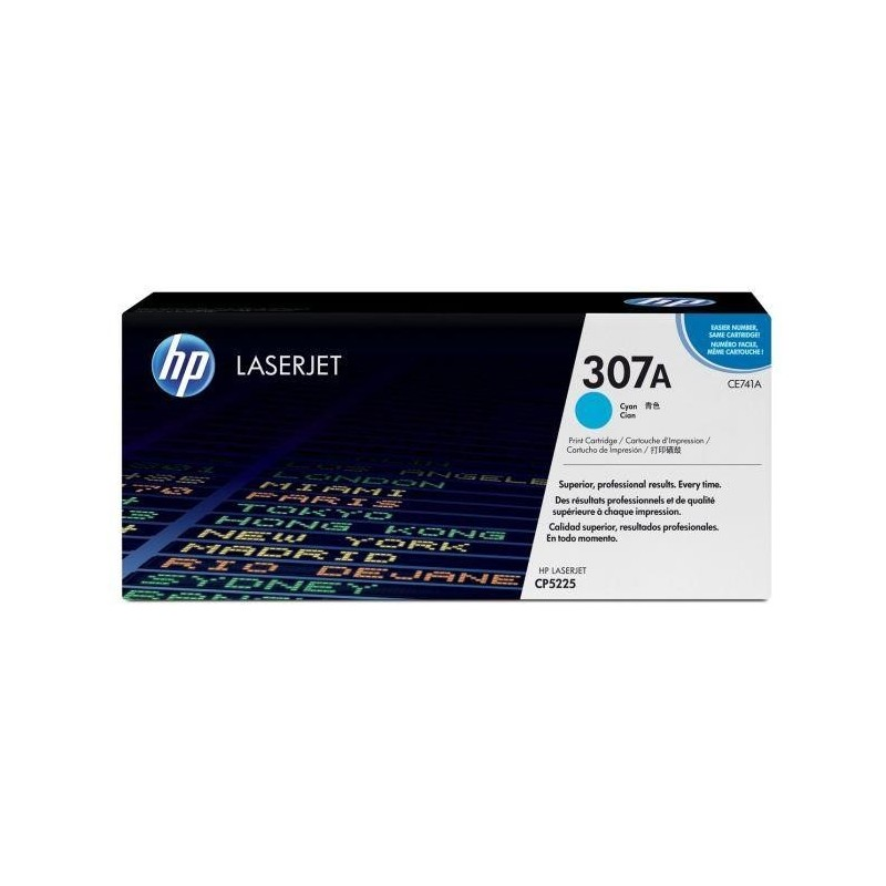 HP Toner Laser Original N° 307A CE741A 7300 Pages Cyan