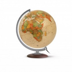"WONDAY Globe terrestre lumineux 30 cm ""Médium"" Antique"