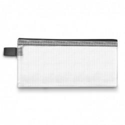 WONDAY Pochette zippée en PVC renforcé Semi Transparente 26 x 34.5 cm