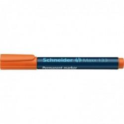 SCHNEIDER Marqueur permanent Maxx 133 Pte Biseau 1-4 mm Orange