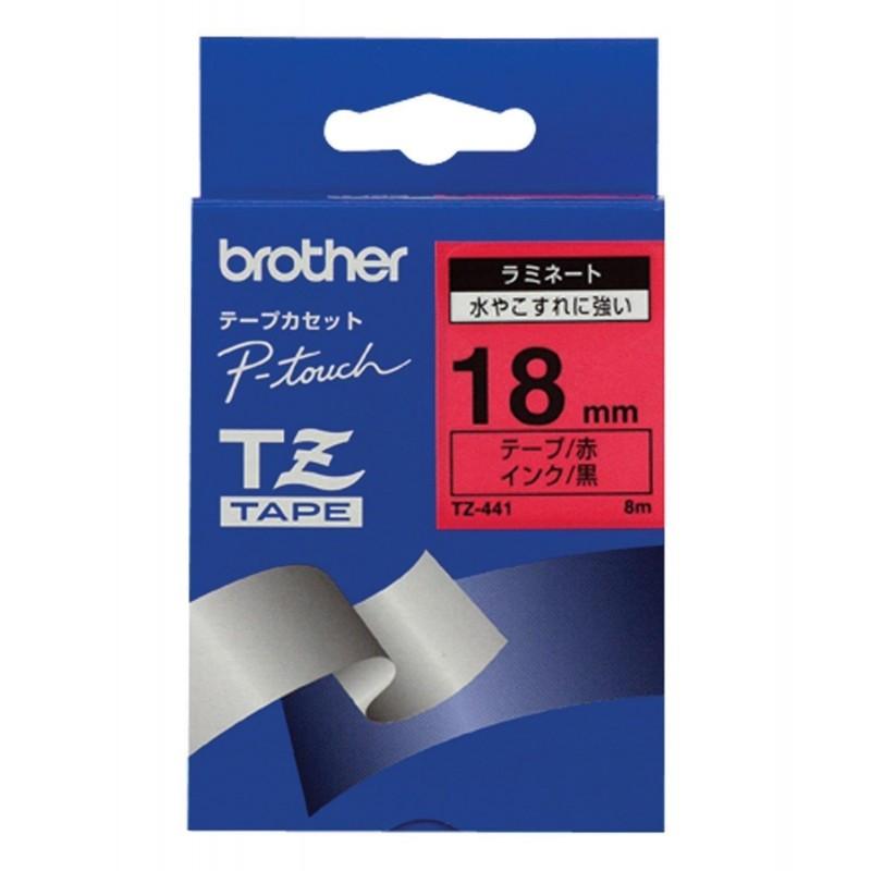 BROTHER Cassette à ruban TZe-441 Largeur:18 mm noir / rouge