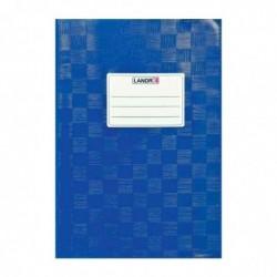 LANDRÉ Protège-cahiers, format A5, gravé (paille), bleu