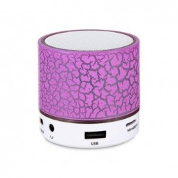 REEKIN Coley Haut-parleur Bluetooth avec lumiére LED multicolore + kit main-libre Rose