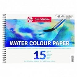 "ROYAL TALENS Bloc 15 Feuilles Papier ArtCreation ""Aquarell"" 240g Blanc Naturel"