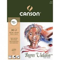 """CANSON Bloc papier dessin """"Ingres Vidalon"""", 320 x 410 mm"""