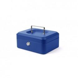 PAVO Caisse à Monnaie 6 Compartiments (L)200 x (P)160 x (H)90 mm Bleu
