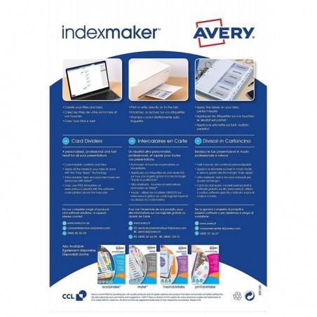 AVERY ZWECKFORM Jeu d'intercalaires 6 positions pour imprimante Index Maker