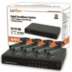 WAYTEX Pack Vidéosurveillance avec 4 caméras 600TV lignes int/extérieur IR