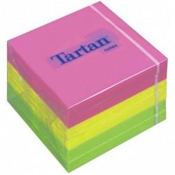 TARTAN 6 x bloc-notes repositionnable, 76 x 76 mm, Neon,