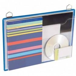 TARIFOLD Porte-brochures A4, transversal, bleu, 5 pièces