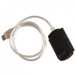 WAYTEX Adaptateur USB 2.0 pour Disque Dur 2.5 ou 3.5 IDE ou SATA livré alimentation