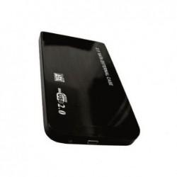"""WAYTEX Boitier vide USB 2.0 pour DD 2.5"""" SATA boitier Alu noir livré avec pochette"""