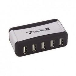 WAYTEX Hub USB 2.0 alimentation externe pose horizontale ou verticale 7 ports