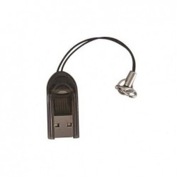 WAYTEX Mini lecteur USB2.0 de cartes Micro SD et T FLASH avec attache porte clé - rouge