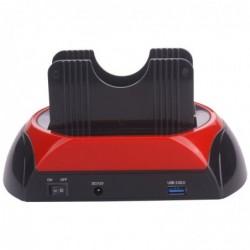 """WAYTEX Station de stockage USB 3.0 pour Disque Dur 2.5"""" et 3.5"""" SATA"""