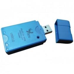 WAYTEX Lecteur USB 2.0 de cartes mémoires universel 10 en 1 blister