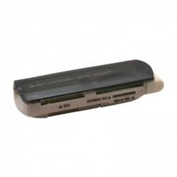 WAYTEX Lecteur de cartes mémoires USB 2.0 SD/SDHC/MINI SD/T FLASH/M2/MMC/XD noir
