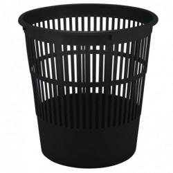 WAYTEX Poubelle, corbeille papier souple ajourée résistante 16 litres noir