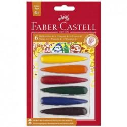 FABER-CASTELL crayon de cire, assortie en couleurs