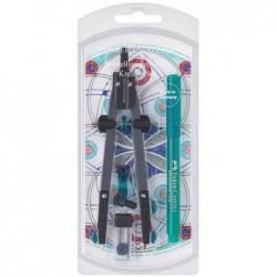 FABER-CASTELL Kit créatif de compas: adaptateur + Broadpen