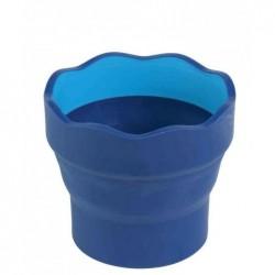 FABER-CASTELL Gobelet peinture CLIC & GO, bleu