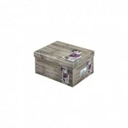 """HAMA Boîte de rangement """"Rustico"""", 17x22x11cm, lilas"""