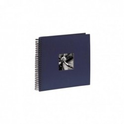 """HAMA Album photo à spirales """"Fine Art"""", 36 x 32 cm, 50 pages noires, bleu"""