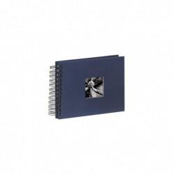 """HAMA Album photo à spirales """"Fine Art"""", 24 x 17 cm, 50 pages noires, bleu"""