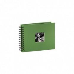 """HAMA Album photo à spirales """"Fine Art"""", 24 x 17 cm, 50 pages noires, vert pomme"""