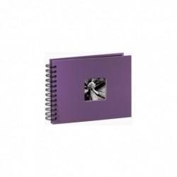 """HAMA Album photo à spirales """"Fine Art"""", 24 x 17 cm, 50 pages noires, violet"""