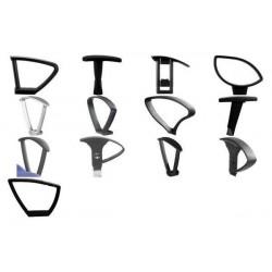 """TOPSTAR accoudoirs modèle type """"R(O)"""", 1 paire, noir (7055)"""